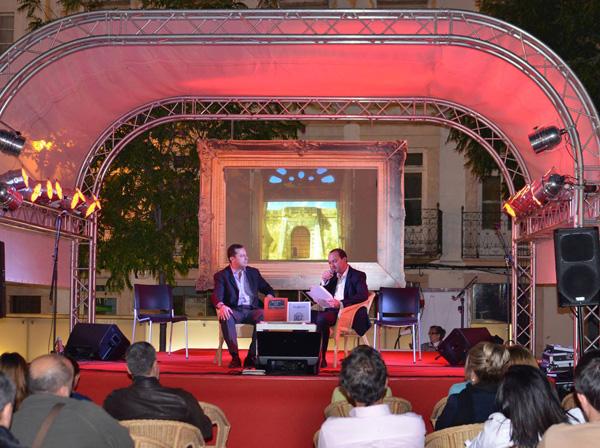 Presentación de los libros de José Antonio González Carrillo en la Feria Ibérica del libro de Elvas. Mayo 2014.